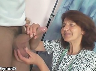 Sewing old women swallows customer& 039;s cock _: grannies matures old+young
