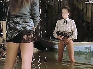Florence Guerin Trina Michelsen hot scenes from La Bonne _: babes celebrities stockings vintage