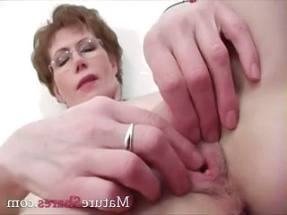 Close up Glasses Masturbating Fingering Glasses Mature Masturbating Mature