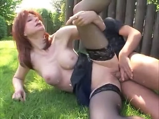 German Horny Mature Woman Fucks Young Gardener