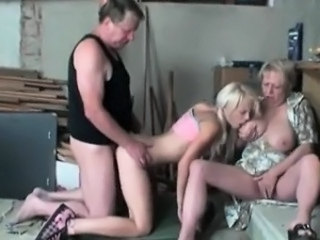 Perfect blonde enjoys hardcore threesome