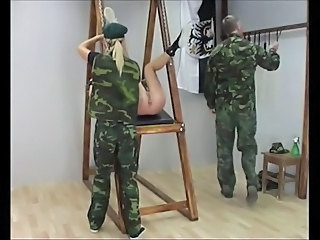 Army Spanking Bondage Punish Pregnant Teen