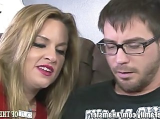 MILF gets Facial from NOT her Son-in-law