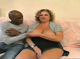 Chubby French MILF gets BBC IR GB