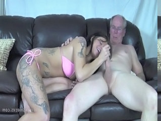 Handjob Old And Young Tattoo Bikini Daddy Daughter