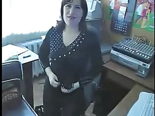 Office Secretary Stripper Amateur