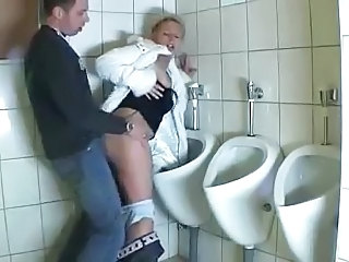 woman fucked in the toilet