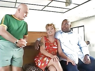 Black Husband watch his Wife fucked by white man
