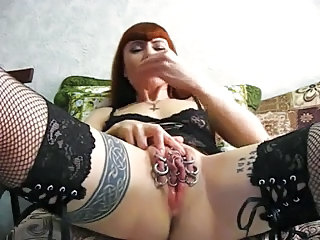 Goth Clit Piercing Close up