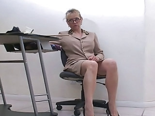 Glasses MILF Office Secretary Milf Ass Milf Office Office Milf Masturbating Webcam Mature Hairy Nipples Teen