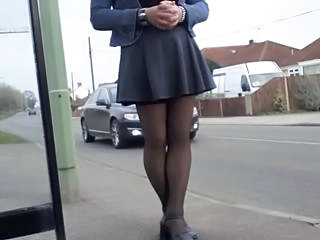 windy blows skirt to flash drivers Sex Tubes