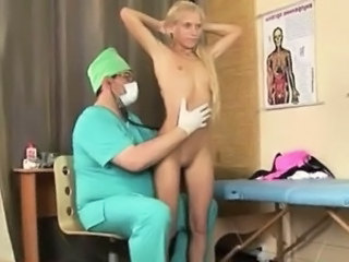 sexy tight blonde at the doctor