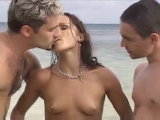 Amazing Beach Handjob Beach Tits Milf Ass Milf Threesome