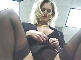 Amazing Blonde Glasses Milf Ass Milf Office Milf Stockings