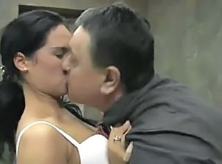 Daddy Brunette Kissing Daddy Old And Young