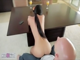 Gorgeous babe Rahyndee in a very sensual fucking and cumshot free