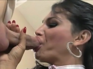 Busty tranny Jaqueline Braxton ass fucked by horny dude