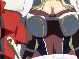 Cute 3d hentai princess gets her huge boobs teased