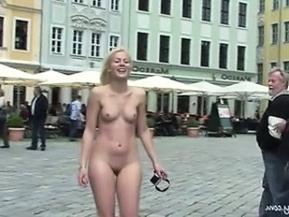 Sweet Blonde Sandra Shows Her Naked Body In Public