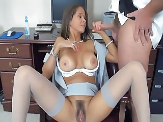 brunette milf and the printer guy