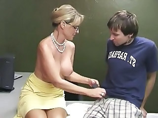 Woman man older handjob younger