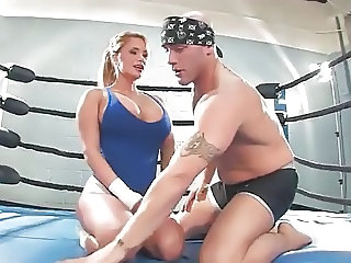 Blonde Girl fucked hard by Trainer