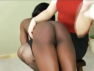 ebony girl spanked otk