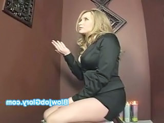 "Blonde beauty gets naked to suck huge rod ..."" class=""th-mov"