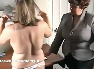 Mature School Mistress fiddles with her young pupil _: bbw big boobs lesbians matures old+young