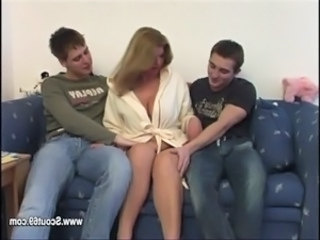 Mature Mother fucks with 2 young boys after school free