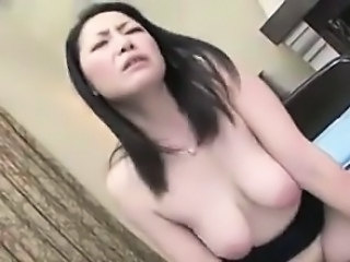 Dirty Japanese Cougar Fucked And Creampied