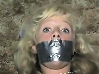 Cute Blonde Slave Duct Taped Classic