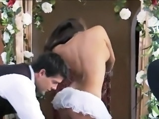 Bride Kissing Her New Husbands Cock