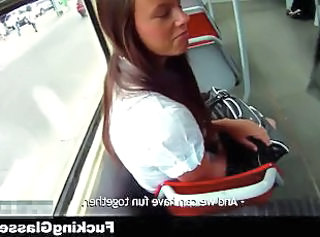 Fucking Glasses - Fucked for cash near the bus