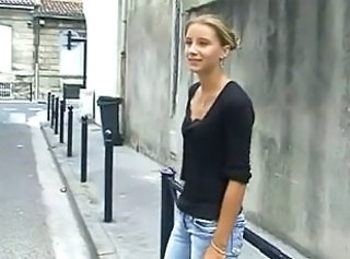 Public European French Blonde Teen European French