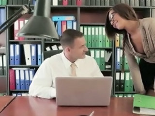 Video from: empflix | Classy secretary Alexis Brill fucks her boss