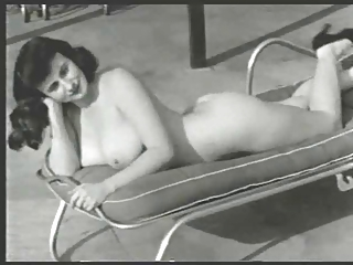 1950s Gal By The Pool
