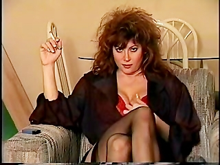Classic 80's smoking, big hair and all