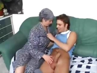 Granny Granny Cock Granny Young Old And Young