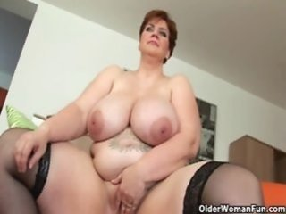 dildo   mature   milf pussy   old woman   shaved   tits