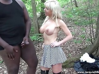blonde   blowjob   interracial   mature   milf   outdoor