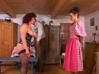 Old and Young Maid Corset Corset Fingering German Mature