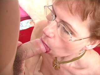 elderly broad shows her oral skills - ant studio