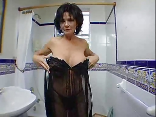 Stripper Silicone Tits Bathroom Bathroom Mom Bathroom Tits Big Tits Brunette