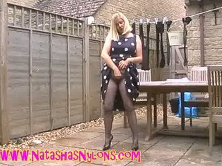 Pantyhose Wife Amateur Nylon Outdoor Outdoor Amateur