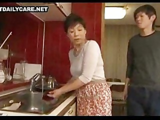 Old And Young Mom Japanese Asian Mature Japanese Mature Kitchen Mature