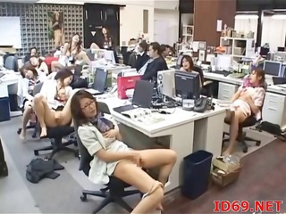 Office Secretary Japanese Asian Babe Babe Masturbating Japanese Babe