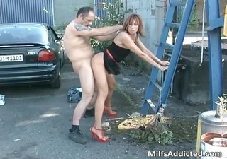 Older Clothed Doggystyle Outdoor Perverted Wife Milf