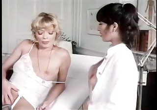 vintage foreign porn movie scene with those women engulfing and fucking