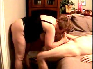 sex toy into cave and my cock into her oral